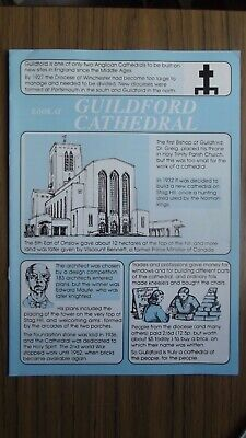 Guildford Cathedral Guide Booklet Complete 1990 • 5.49£