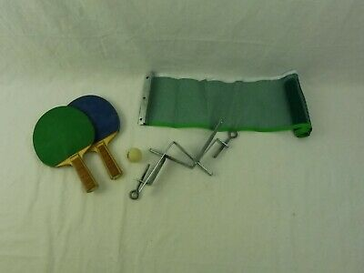 AU9 • Buy Vintage Table Tennis Ping Pong Net & Clamps + 2 Bats