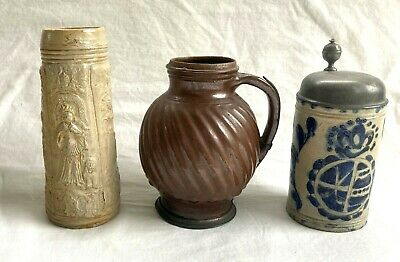 $ CDN6.05 • Buy Two 18th C. Pottery Jugs & One 16th C. Style -NR
