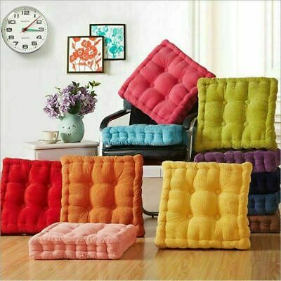 £9.99 • Buy Cotton Chunky Booster Cushion Thick Seat Pads Adults Chair Armchair Garden Pads
