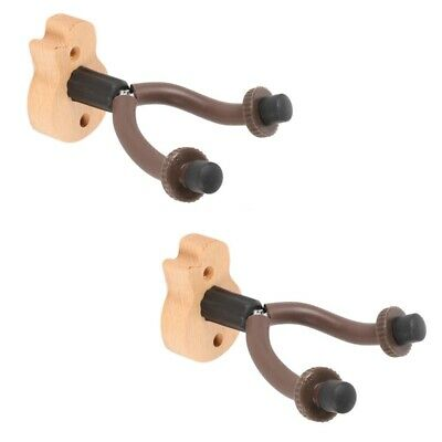 $ CDN18.62 • Buy 2Pcs Guitar Hanger Hook Holder Wall Mount Stand For Electric Acoustic GuitarF8Q1
