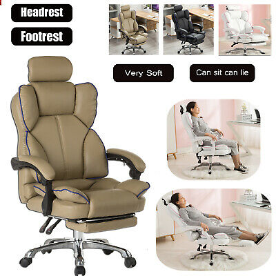 AU149.77 • Buy Executive Office Chair Racing Gaming Chair Computer Chair Swivel Recliner Leathe