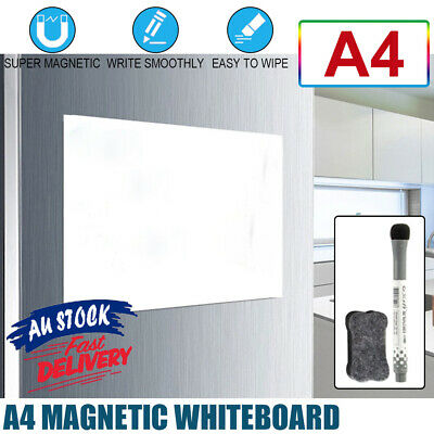 AU7.99 • Buy A4 Fridge Soft Whiteboard Home Marker Magnetic Office Memo Message Board