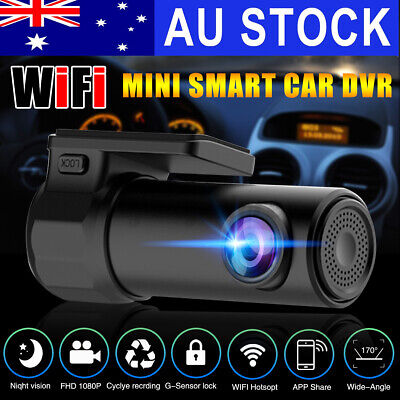 AU33.99 • Buy Car Dash DVR Cam HD 1080P Lens Recorder Camera WiFi 170° FHD Video Night Vision