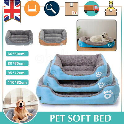 Dog Beds Pet Bed Cushion House Waterproof Soft Warm Kennel Blanket Extra Large • 12.99£