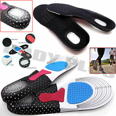 £3.25 • Buy 2x Insoles Orthotic Arch Support Flat Heel Shoe Feet Gel For Foot Insert Comfort