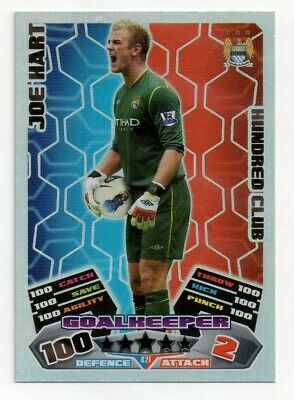 £4.25 • Buy Joe Hart 421 Hundred Club Manchester City Match Attax 2011/12