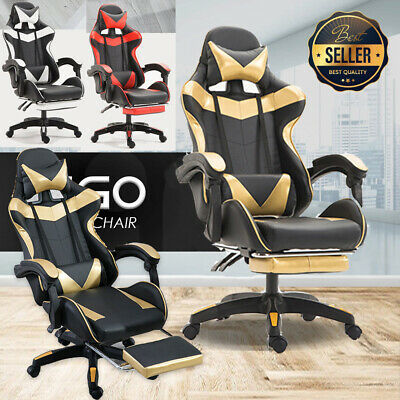 AU109.77 • Buy Racing Gaming Chairs Swivel Lift Office Executive Recliner Computer Desk Chair