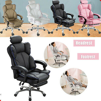 AU139.77 • Buy Gaming Chair Office Computer Leather Chairs Racer Executive Racing Seat Recliner