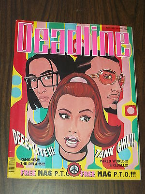 £18.99 • Buy Deadline #28 April 1991 Tank Girl Ramones Dylan With Gift British Monthly Comic^