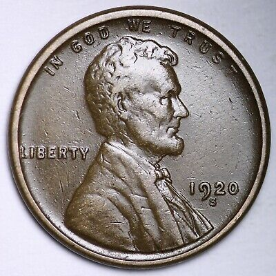 $ CDN1.20 • Buy XF 1920-S Lincoln Wheat Cent Penny FREE SHIPPING
