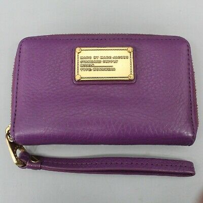 $ CDN21.84 • Buy Marc By Marc Jacobs Purple Leather Small Phone Wallet Wristlet