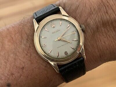 $ CDN4367.34 • Buy Vintage 1950s Solid 10K Rose Gold Rolex Watch~Mens Wristwatch~Honeycomb Dial