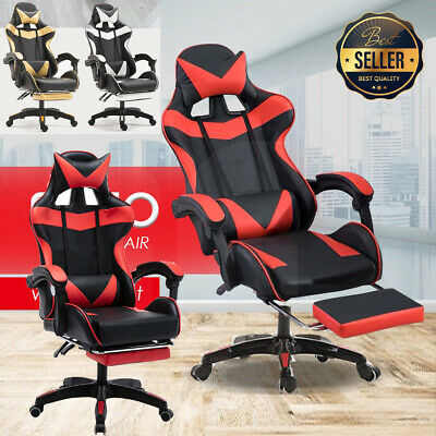 AU116.99 • Buy Gaming Chair Office Chair Computer Executive Chairs Seating Footrest Racer