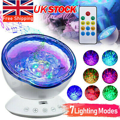 £13.59 • Buy Ocean Night Music Projector Calming Autism Sensory LED Light Relax Projection UK