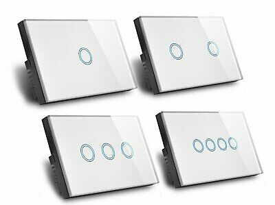 AU22.49 • Buy 1100W Smart WiFi Touch Light Wall Switch Panel For Alexa Google APP 1/2/3 Gang