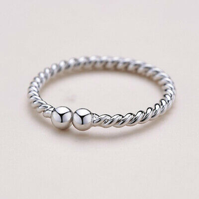 £2.59 • Buy 925 Women Sterling Solid Silver Adjustable Open Band Thumb Ring Jewellery Gift