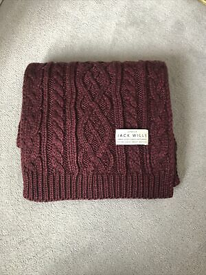 £4.99 • Buy Jack Wills Cable Knit Scarf
