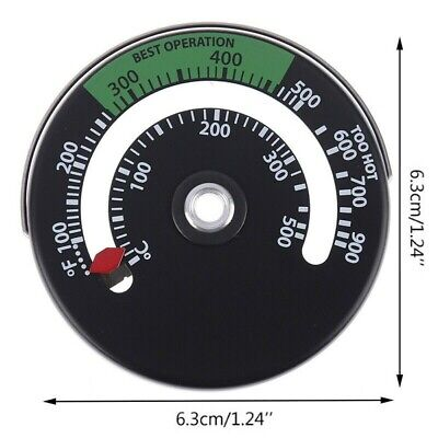 AU7.78 • Buy *Stove Pipe Fireplace Thermometer Temperature For Logs Wood Burner BBQ 6.3x0.9cm