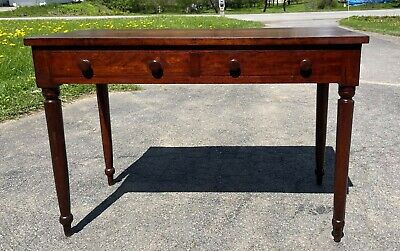 $495 • Buy Antique Early 19th Century Mahogany Two Drawer Side Table Dressing Table Desk