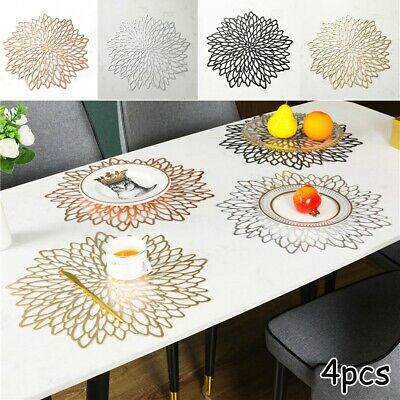 AU14.08 • Buy 4pcs Place Mats Washable Dining Wedding Party Birthday Table Placemats PVC