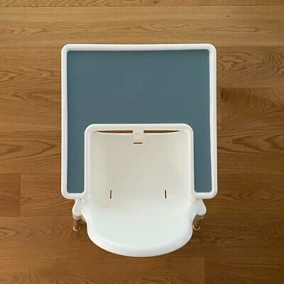 £15 • Buy IKEA Highchair Placemat Insert   Harbour Blue   Silicone Antilop High Chair Mat