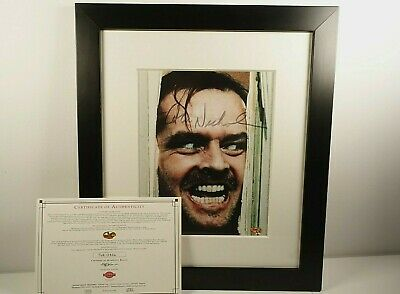 £279.99 • Buy Jack Nicholson Hand Signed Autograph  The Shining  Framed Photo With C.O.A