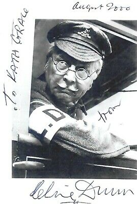 £15 • Buy CLIVE DUNN HAND SIGNED Photo DADS ARMY CORPORAL JONES GRANDAD SONG AVENGERS 2000