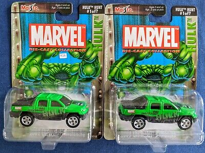 $ CDN30.25 • Buy R16-(2) Maisto Marvel Hulk Hunt #1 2002 Chevrolet Avalanche Die Cast New In Pack