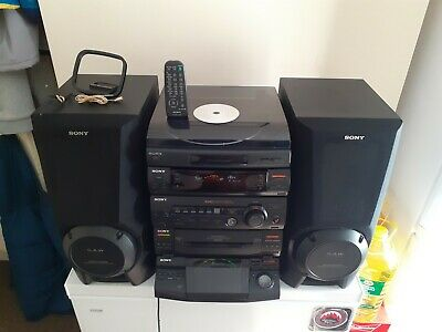 £280 • Buy Sony Hifi Stereo 5 CDs Player System LBT XB50 &Super Woofer Speakers/ Turntable