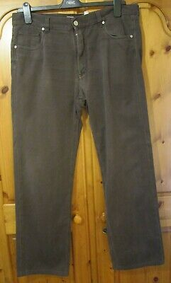 £19.99 • Buy Mens Canali  Brown Jeans Size 54 UK 38 Leg 29