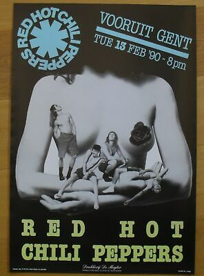 $49 • Buy RED HOT CHILI PEPPERS Original Concert Poster '90