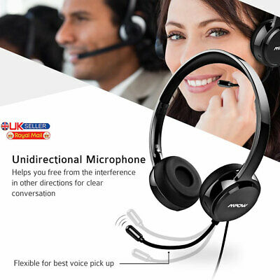 £20.99 • Buy USB WIRED COMPUTER HEADSET With STEREO MICROPHONE | BUSINESS ZOOM SKYPE PC CHAT