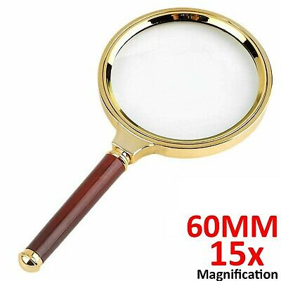 £3.45 • Buy 60mm Handheld 15X Magnifier Magnifying Glass Loupe Reading Jewelry Repairing Aid
