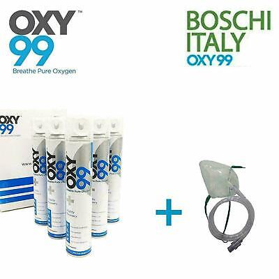 £113.17 • Buy OXY99 Portable Pack Of 6 Oxygen Can + 1 Oxygen-Face Mask , 36 Litre