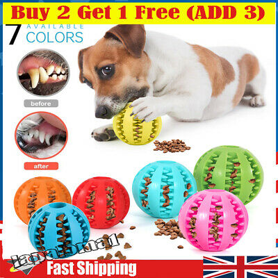 £4.99 • Buy Dog Treat Ball Interactive Chew Resist Toy Teeth Cleaning Food Dispenser Feeder