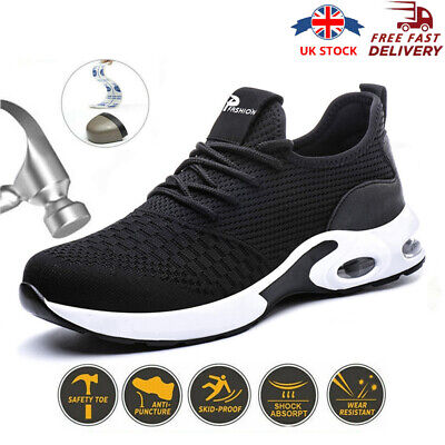 £19.95 • Buy Lightweight Safety Shoes For Men Chef Work Shoes Steel Toe Cap Trainers Women