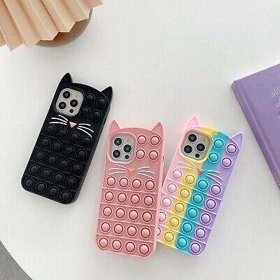£6.99 • Buy New Cat Ears And Whiskers Fidget Push Bubble Phone Case For IPhones 6-12pro