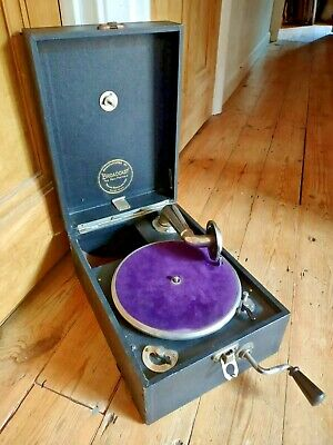 £99.95 • Buy Vintage Working Broadcast Portable Gramophone 1920's 1930s Wind Up Record Player
