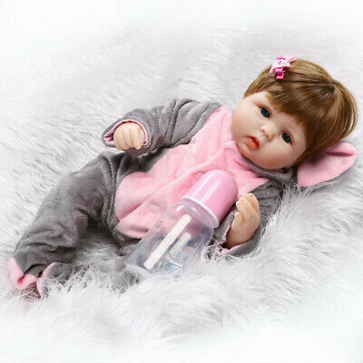 $ CDN127.34 • Buy Full Body Soft Reborn Baby Dolls Vinyl Silicone Realistic Newborn Girls Doll PH