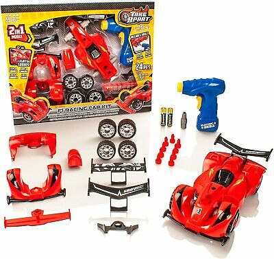 £10.99 • Buy The Construction Toy 2 In 1 F1 Racing Car Kit Build Your Own Set For Kids New