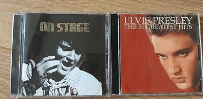 £2.85 • Buy Elvis Presley Cds 'On Stage' And '50 Greatest Hits' Double Cd Set