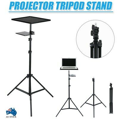 AU53.59 • Buy 69-210cm Heavy Duty Tripod Stand For Laptop Projector / Adjustable Height &Tray