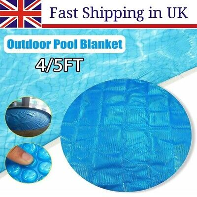 £8.77 • Buy 4/5FT Pool Cover Swimming Tub Round Solar Outdoor Bubble Blanket Accessories