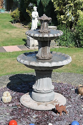 £328.56 • Buy 2 Tiered Barcelona Self Contain Water Feature Fountain Stone Garden Ornament