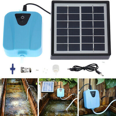 £19.99 • Buy Solar Powered Oxygenator Water Oxygen Pump Pond Aerator With 1 Air Stone Z5D4