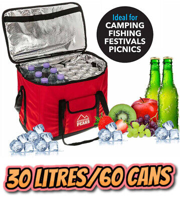 £12.99 • Buy Extra Large 30L Insulated Cooler Cool Bag Box Picnic Camping Food Drink Ice