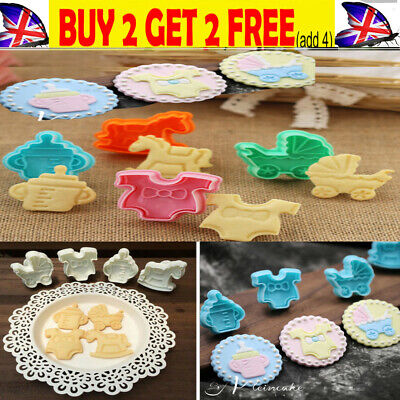 £0.99 • Buy 4-20pcs Baby Shower Clothes Cookies Plunger Cutter Mould Fondant Cake Biscu`T