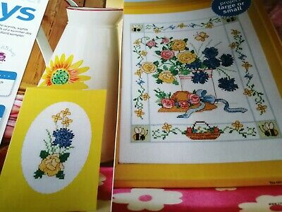 £1.50 • Buy Cross Stitch Chart Summer Days Flowers Bee Hat Chart Only