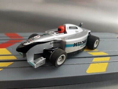 £12.50 • Buy Micro Scalextric Mercedes-Benz Red Helmet F1 Car Working 1:64 Free Postage
